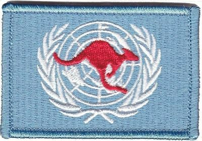 Australian Army United Nations Deployment Patch hook backing
