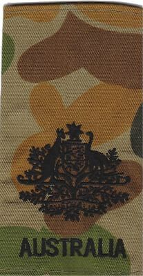 DPCU Army Australia Rank Slide WO1 X1