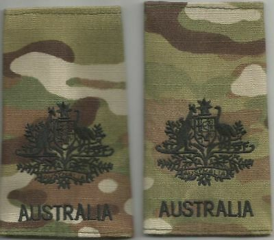 Multicam Army Australia Rank Slides WO1 X2