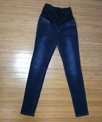 Celebrity Pink Maternity Blue Denim Jeans Skinny Small Petite