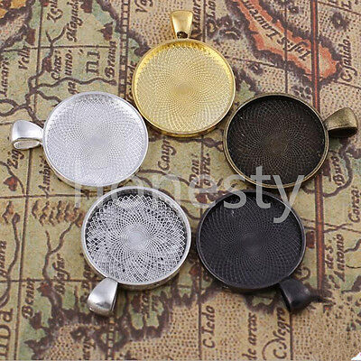 10 pcs Beauty Cabochon Pendant Base Alloy Mount Holder Jewelry Settings
