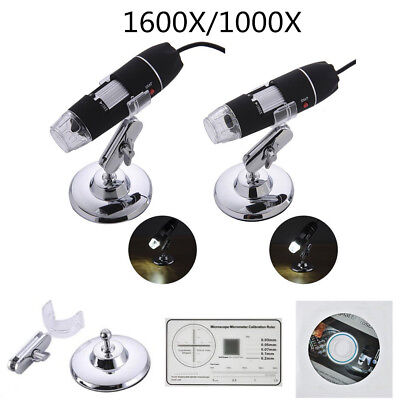 1600X/1000X 8 LED USB2.0 Zoom Microscope Hand Held Biological Endoscope NEW N7