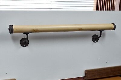 """Ballet Barre 1 3/4 """" x 48""""  With Wall Mounted Brackets & End Caps DIY (1.2M)"""