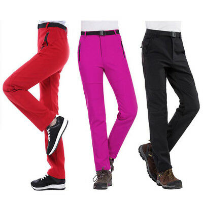 Women Men Waterproof Warm Hiking Climbing Ski Snowboard Pants Thick Trousers DFQ