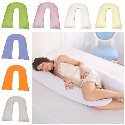 New U/C Shape Pillow Covers Body & Back Support 12ft Maternity Pregnancy Comfort