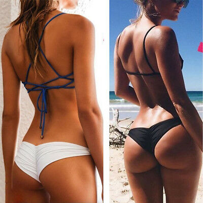 Sexy Bikini Brazilian Cheeky Bottom Thong V Swimwear Swimsuit Panties Briefs