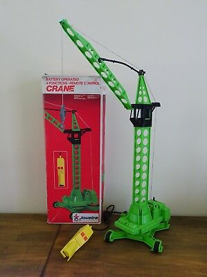 Vintage Battery Operated 4 Function Remote Control Crane Toy in Box