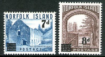 Norfolk Island 1958 Surcharges set of 2 Mint Unhinged