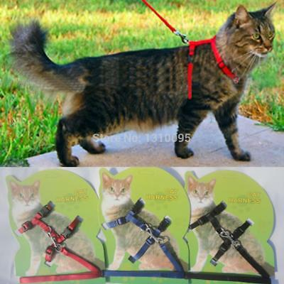 Cat Harness And Leash Nylon For Animals Adjustable Kitten Halter Collar