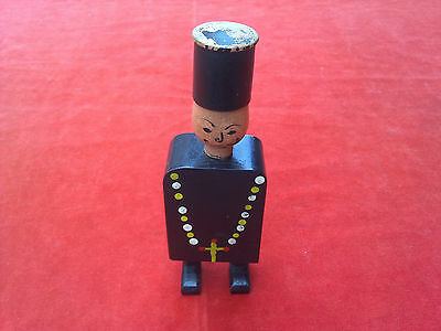 VERY RARE! Vintage Wooden toy adult Statue Handcrafted and painted  priest
