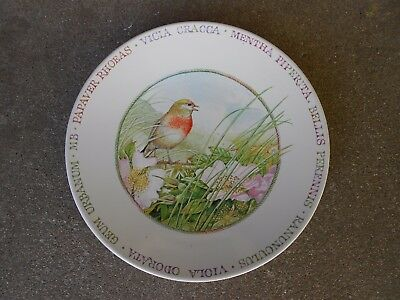 "Wildflower Meadow w Bird & Flowers  by Marjolein Bastin  8"" PLATE   Hallmark"