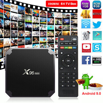 2019 X96MINI Android 7.1.2 Nougat 1+8G Quad Core 4K Media HDMI WIFI Smart TV BOX
