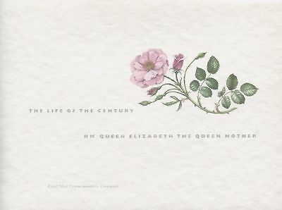 Royal Mail 2000 Queen Mother Commemorative Document Life Of The Century Fdc