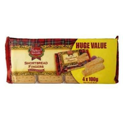 4 Pack Highland Speciality Shortbread Fingers (4 x 100g)