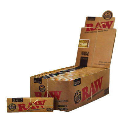 RAW Classic Single Wide Rolling Paper - Natural Unrefined Smoking Paper