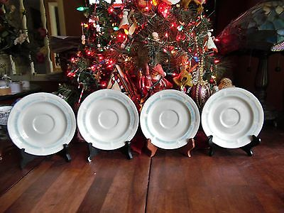 "4 NEW OTHER(old stock) BY TIENSHAN STONEWARE COUNTRY BEAR SAUCERS 6.5""R"