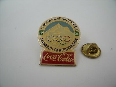 PIN'S PINS Pin Badge JO OLYMPIC GAMES COCA COLA Garmish Paternkirchen 1936 TOP