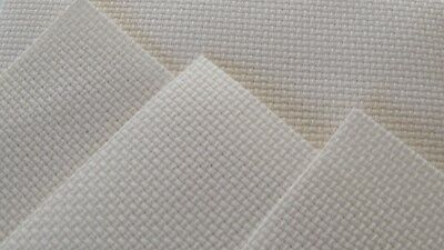 """ZWEIGART  PACK 4 pieces of 14 count cream aida cross stitch fabric 6"""" x 5"""""""