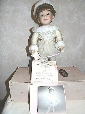 ashton drake My Little Ballerina Doll in Original Box Certificate Tag Stand
