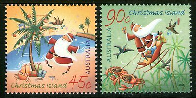 Christmas Island 2005 Christmas set of 2 Mint Unhinged