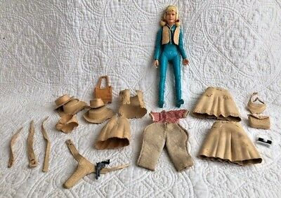 """Vintage Marx Johnny Best of the West """"Josie West"""" with Lot of Accessories - Girl"""