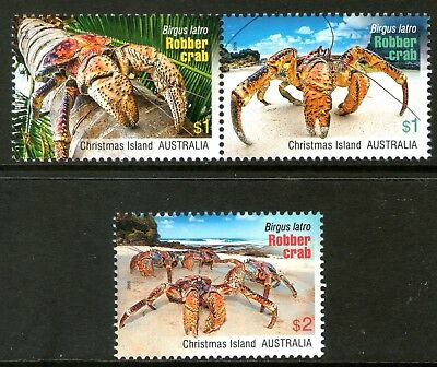 Christmas Island 2016 Crabs set of 3 Mint Unhinged