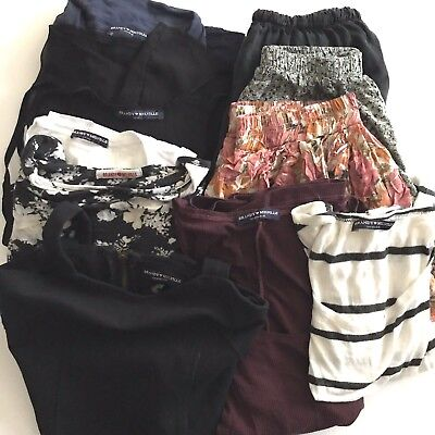 """Brandy Melville LOT of 10 pcs """"One Size"""" OS & some Small Pre-Owned Tops/Bottoms"""