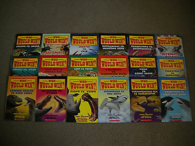 Who Would Win? Complete Lot Of 18 Brand New Paperback Books by Jerry Pallotta