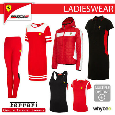 Ferrari F1 Formula One Team Ladies Womens Clothing T-Shirt Polo Pants Leggings
