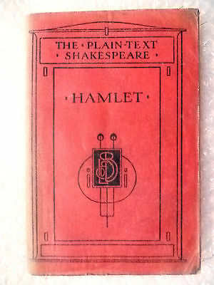 The Plain text of W Shakespeare's Plays HAMLET (Genuine*)