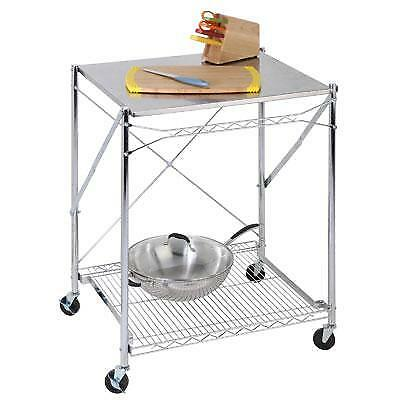 Honey-Can-Do TBL-01566 Stainless Steel Folding Urban Work Table