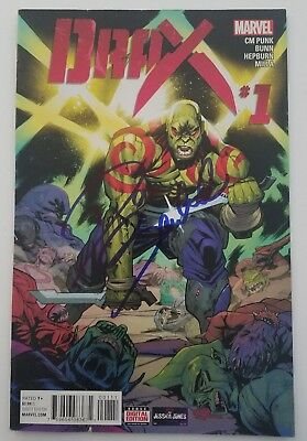 Dave Bautista Signed Drax #1 Comic Book Guardians Of The Galaxy GOTG Movie Rare