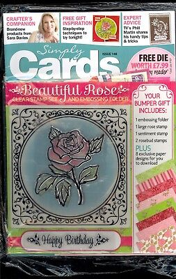 Simply Cards & Papercraft Issue 148 (2017) Factory Packaged Includes Free Gifts
