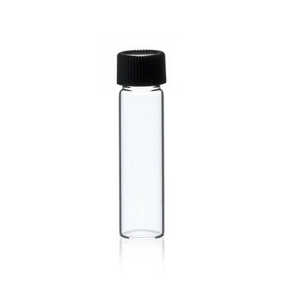 144  pcs Clear 2 Dram 1/4 oz glass vials w/ screw caps