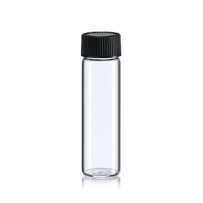144  pcs Clear 4 Dram [15ML] glass vials w/ screw caps