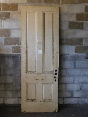 "Antique Italianate Interior 8'-6"" Tall Door - C. 1860 Fir Architectural Salvage"