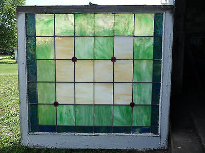 Antique Church Stained Glass Window-C. 1910 Arts & Crafts Architectural Salvage