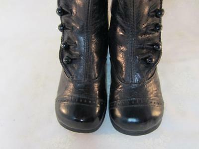 Antique Baby / Child High Button Coat Boots / Shoes Wing Tip Early 1900