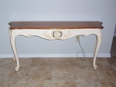 Ethan Allen Legacy Collection French Provincial Sofa Table