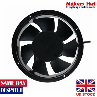 172mm Round Brushless Cooling Fan DC12V - 17251 - Double Ball Bearing
