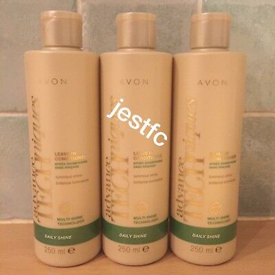 Avon~ADVANCE TECHNIQUES~Daily Shine~LEAVE IN CONDITIONER~x3 Lots