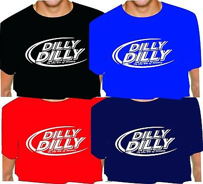 DILLY DILLY T-Shirt To the Pit of MISERY adult oval blck roBL red navy bud light