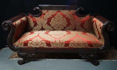 GORGEOUS CARVED EMPIRE FIGURAL SETTEE, 19th century ( 1800s )