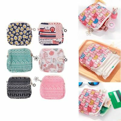 Sanitary Napkins Pad Purse Holder Carrying Storage Bag Pouch Organizer Portable