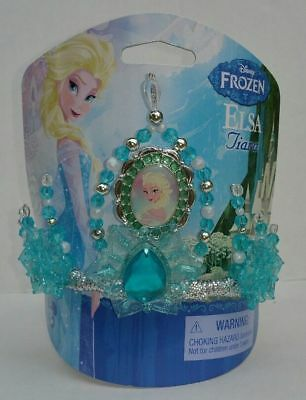 Disney Parks Frozen Queen Elsa Costume Kids play Dress up Tiara Crown *NEW*