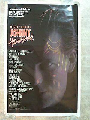 "JOHNNY HANDSOME Movie Poster Original Rolled 27""X41"" 1989 NSS890118"