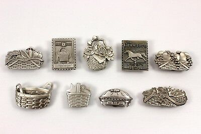 Longaberger Pewter Magnets, Lot of 9, New in Packages