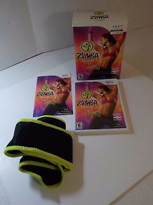 ZUMBA Fitness Join the Party (Nintendo Wii, 2010) Bundle Game + Belt CIB in Box