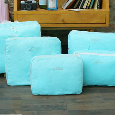 Travel Storage Bags Waterproof Clothes Packing Cube-Luggage Organizer 5 Pcs/Set