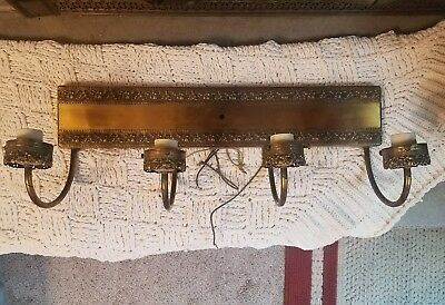 Antique Vintage Brass Wall Architectural Salvage Lighting Candlestick Steampunk